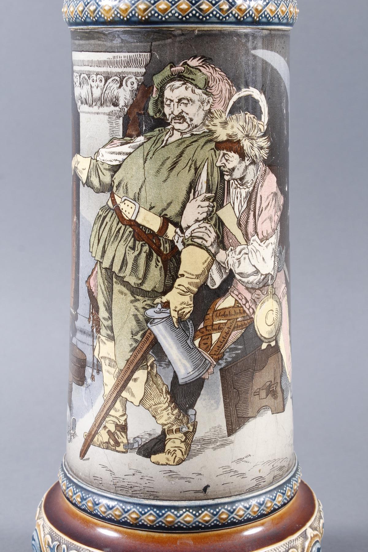 Große Steingut Schenkkanne von Mettlach – Villeroy& Boch – von 1899-3