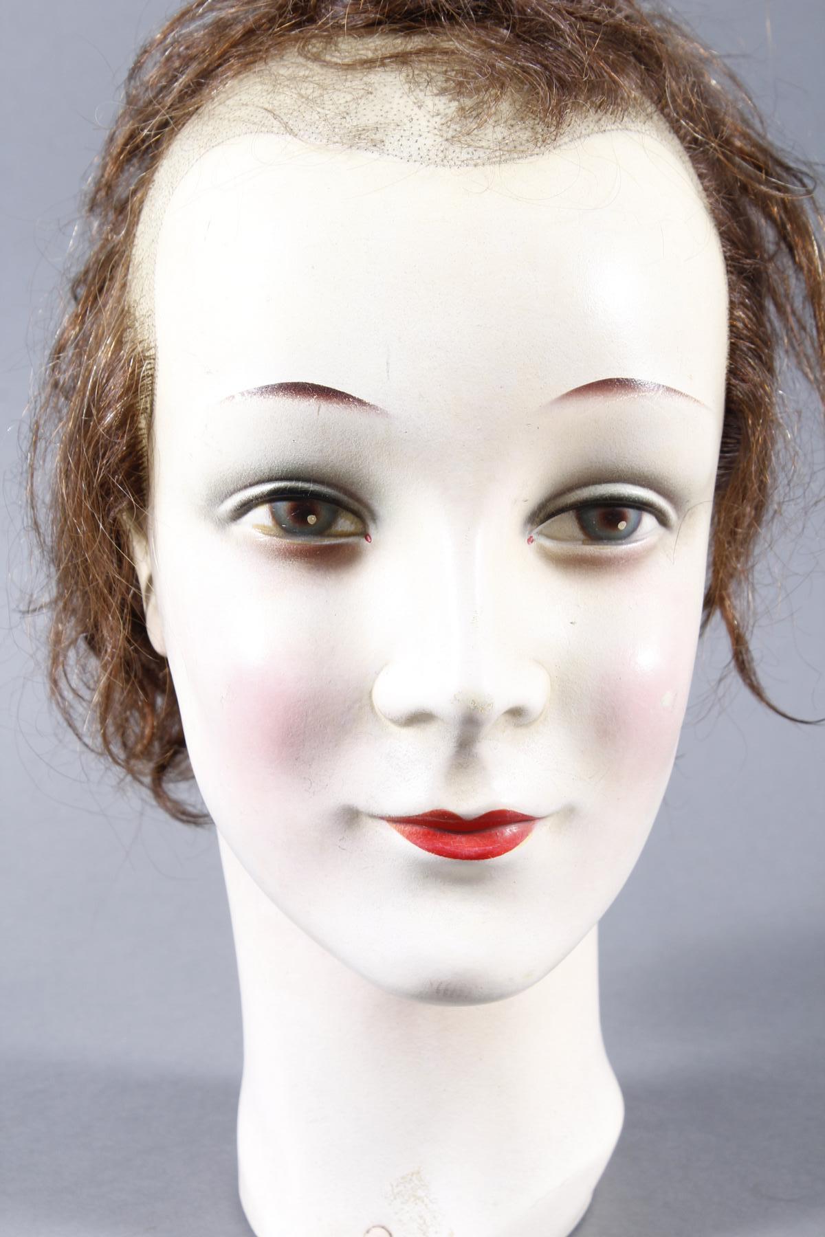 Schaufenster Büste für Damenhüte ,Deutsch um 1940-1950-3