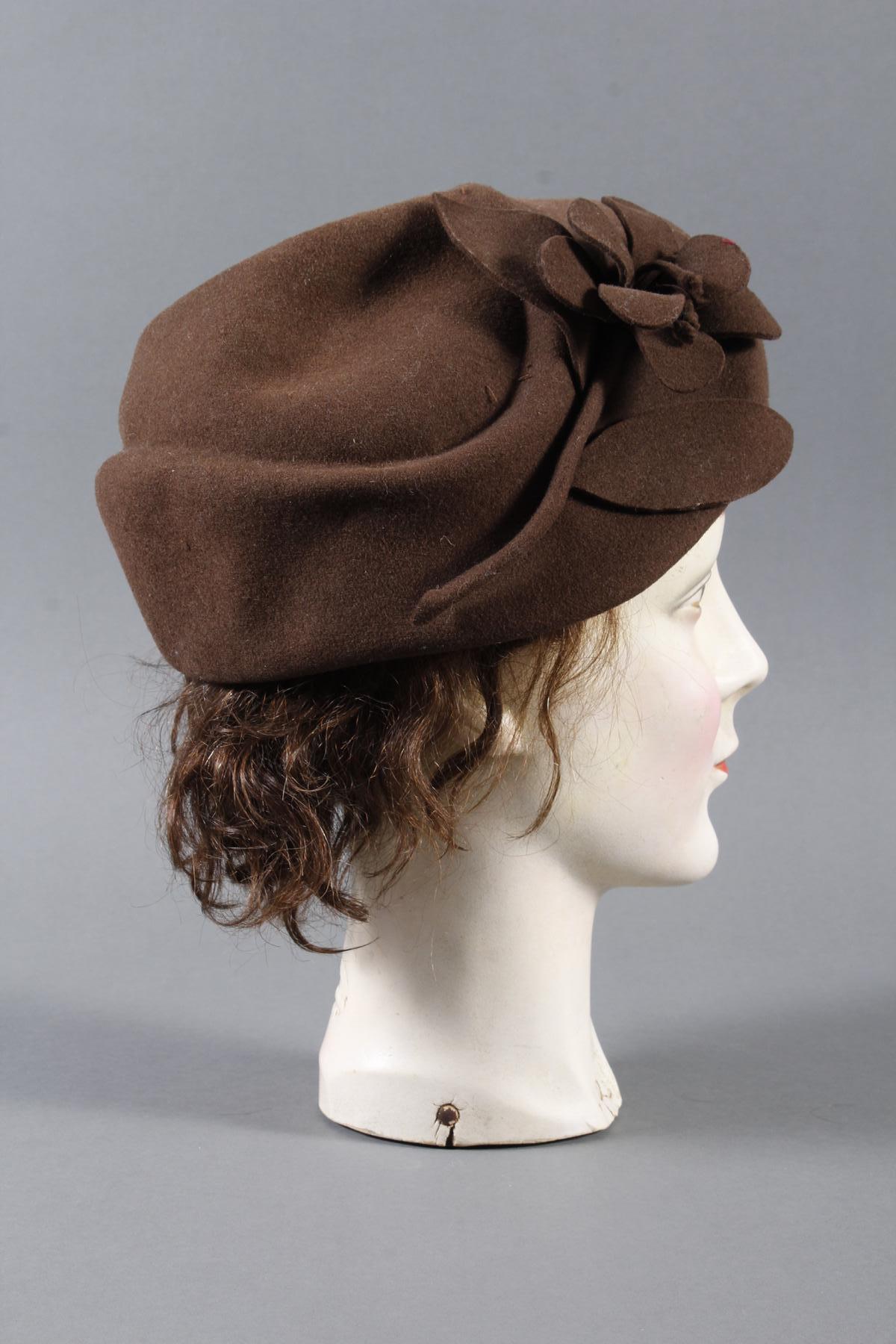 Schaufenster Büste für Damenhüte ,Deutsch um 1940-1950-5