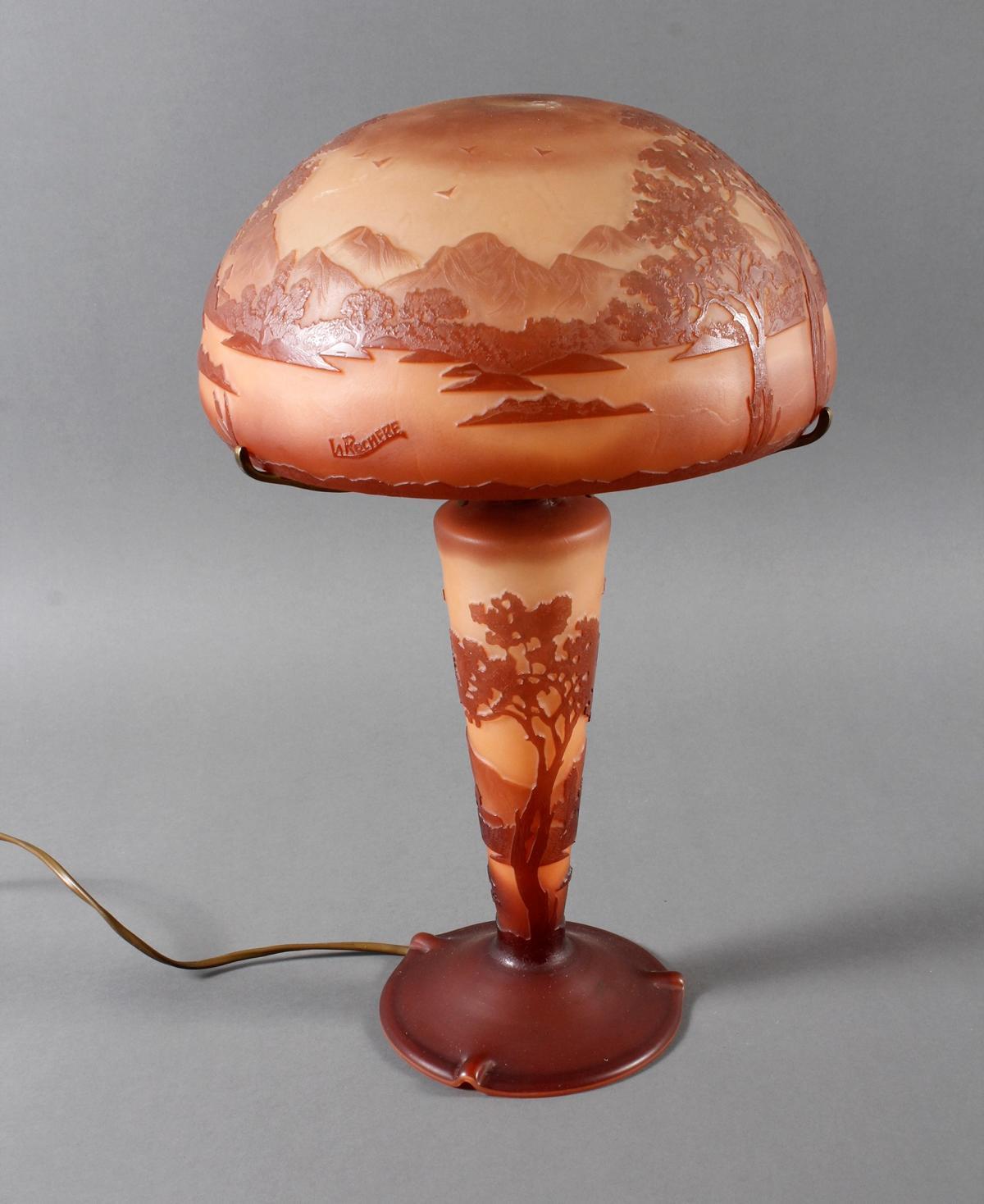 Cameo Leuchte von La Rochere, Frankreich 20. Jahrhundert