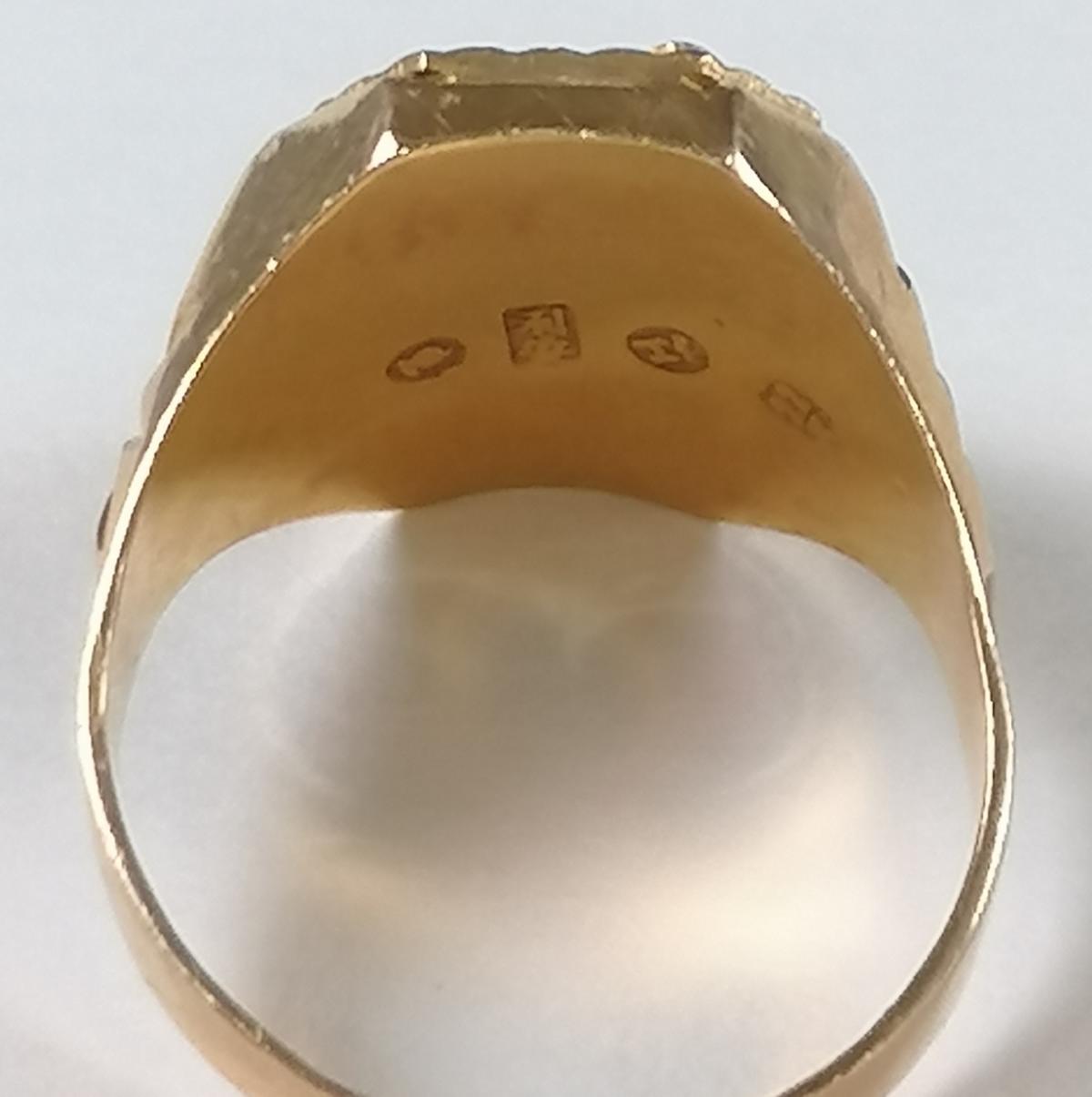 22 Karat Gelbgold-Siegelring mit dem chinesischen Schriftzeichen für 'Langes Leben'-7