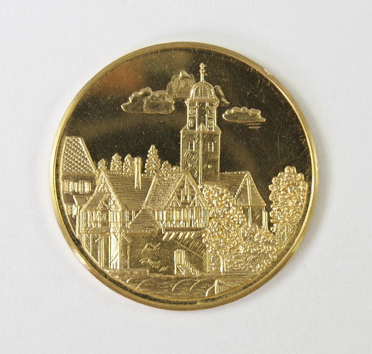 Goldmedaille, Stadt Laichingen-2