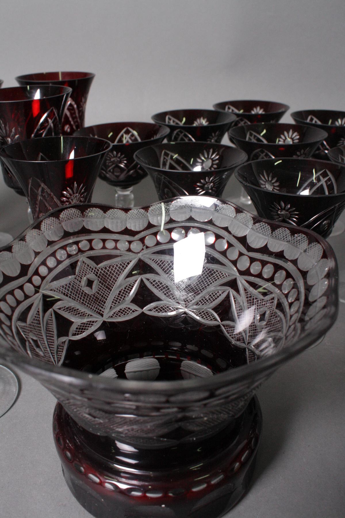 Konvolut Kristall-Gläser, 26-teilig, 20. Jahrhundert-3