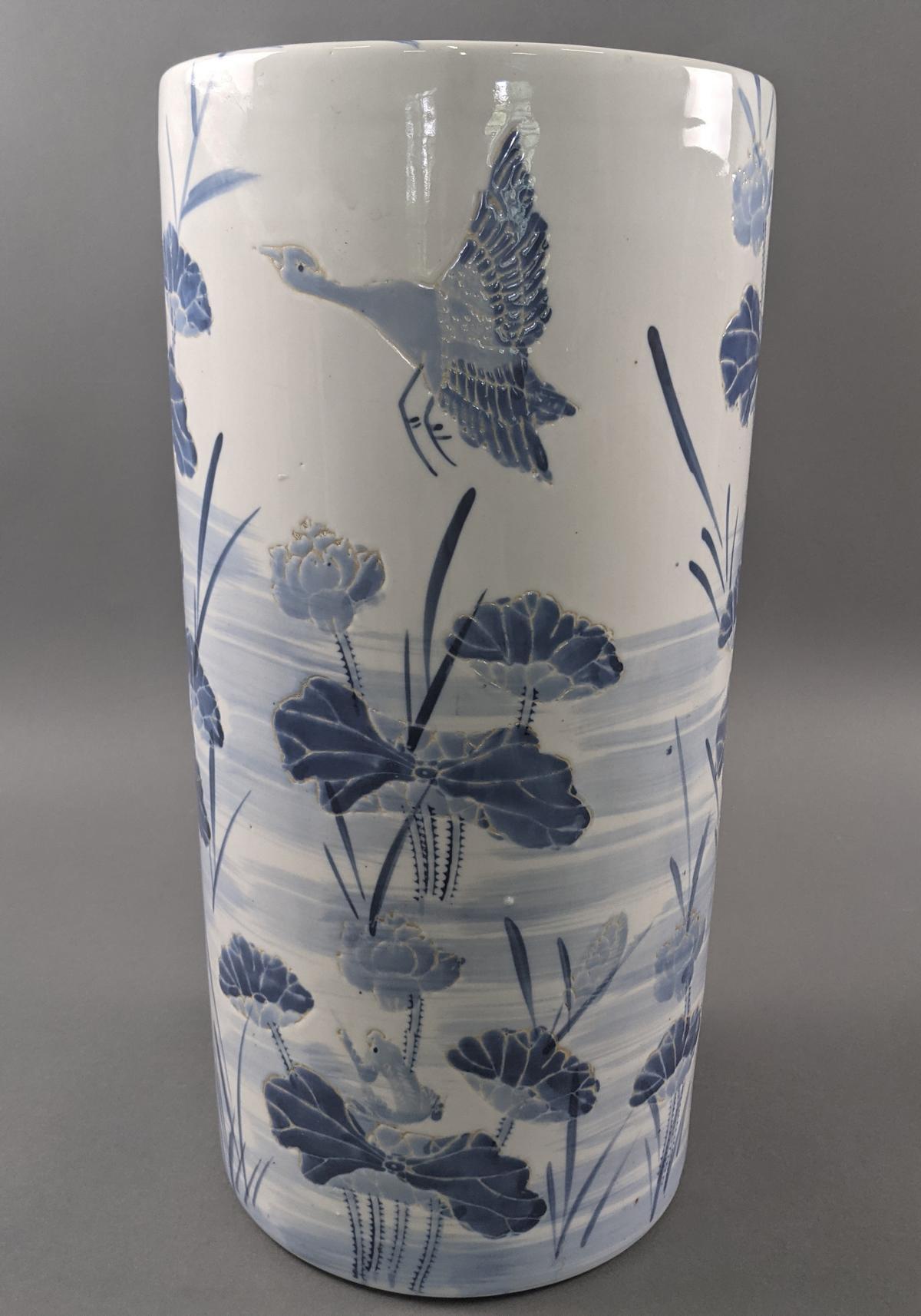 Große Keramik Bodenvase um 1900-3