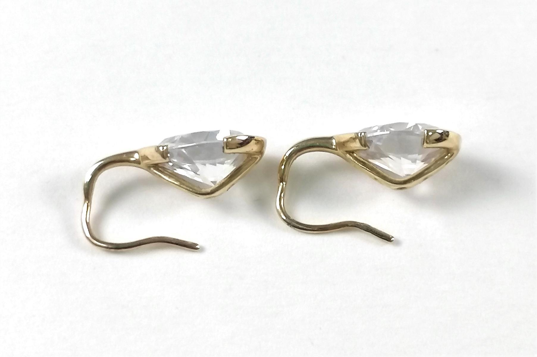 Ohrhänger aus 9 Karat Gelbgold mit Zirkonia-2