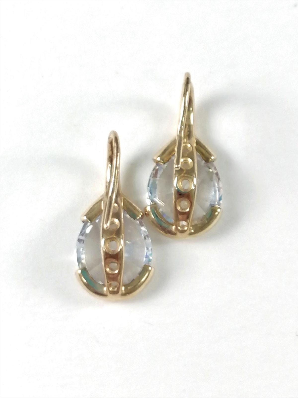 Ohrhänger aus 9 Karat Gelbgold mit Zirkonia-3
