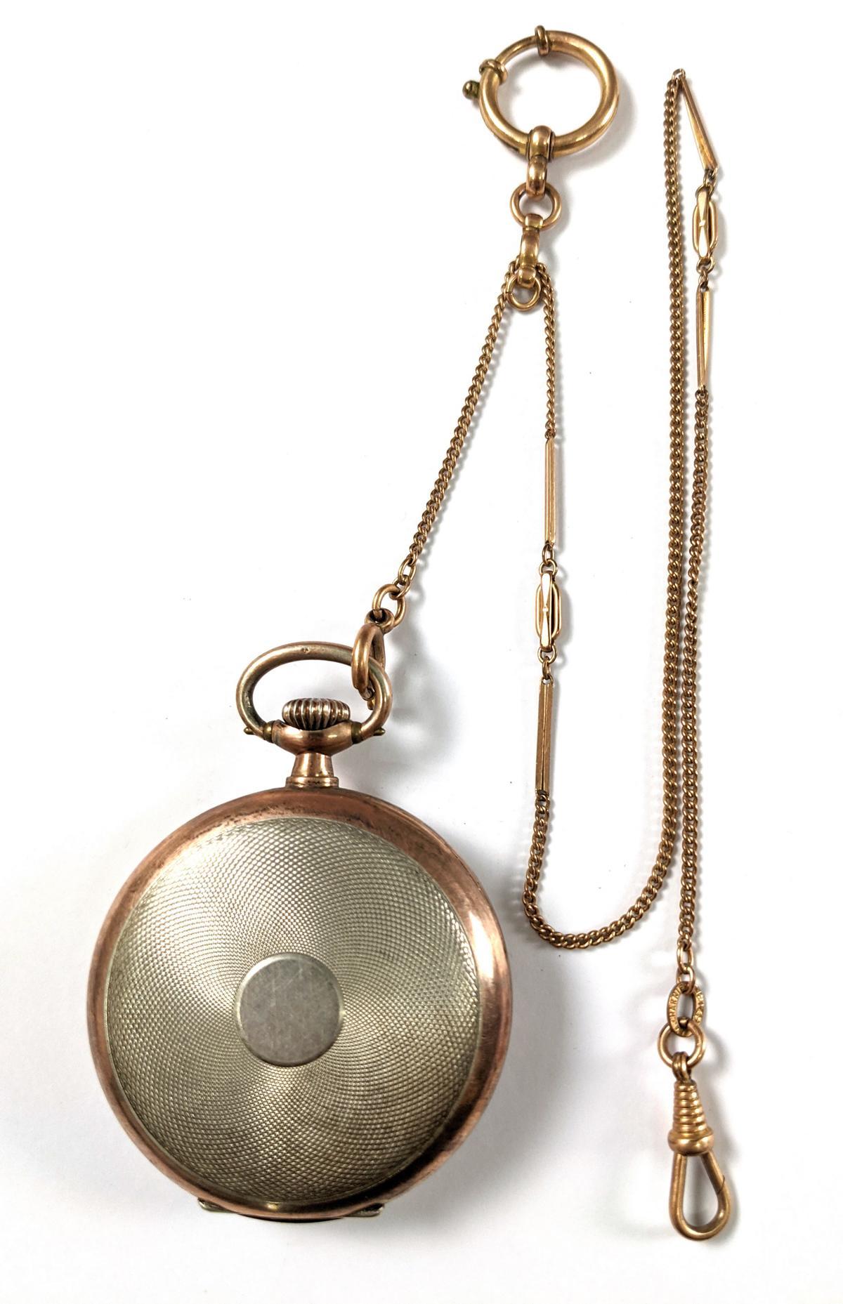 OMEGA Taschenuhr aus 800er Silber-2