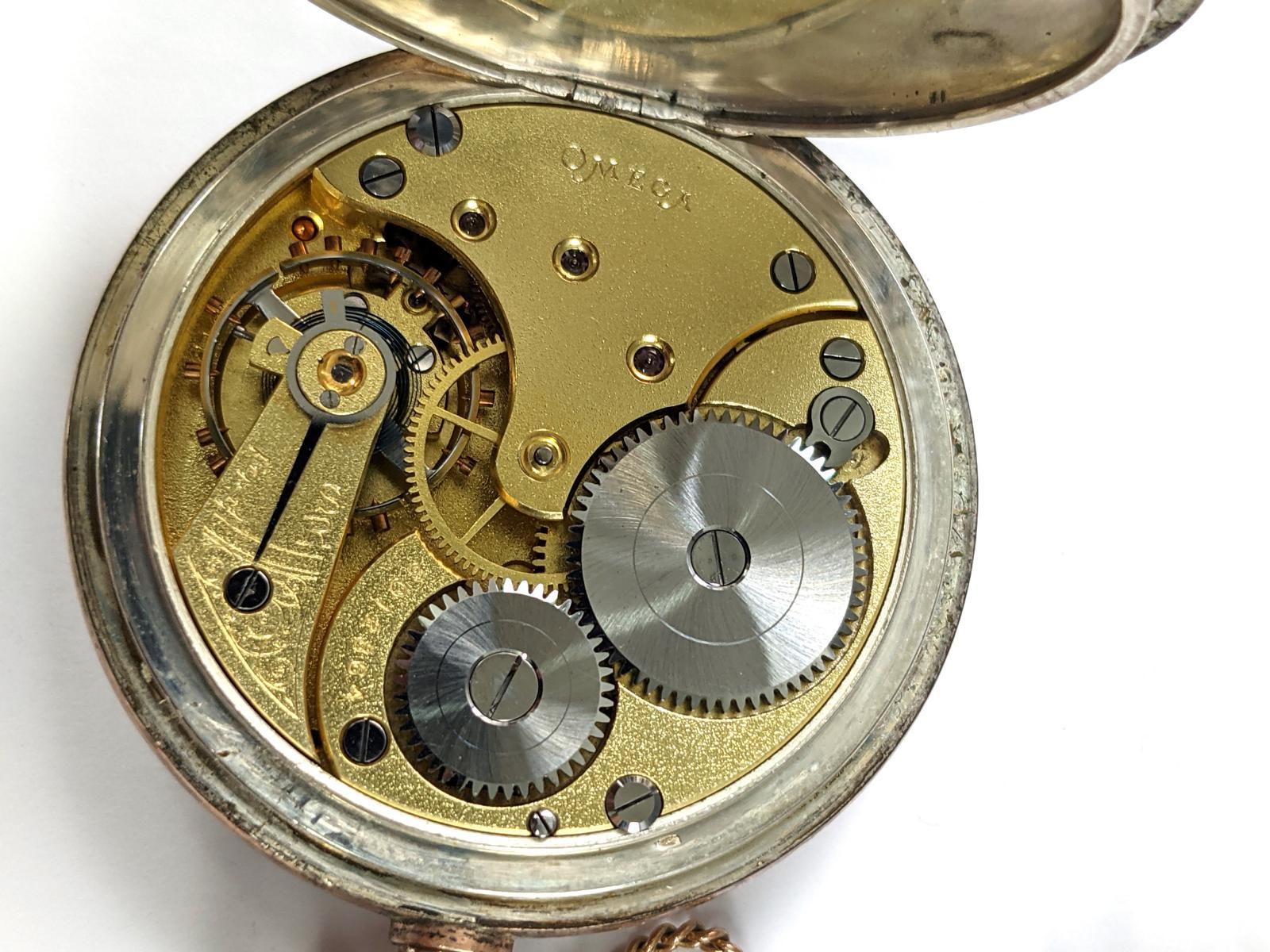 OMEGA Taschenuhr aus 800er Silber-3