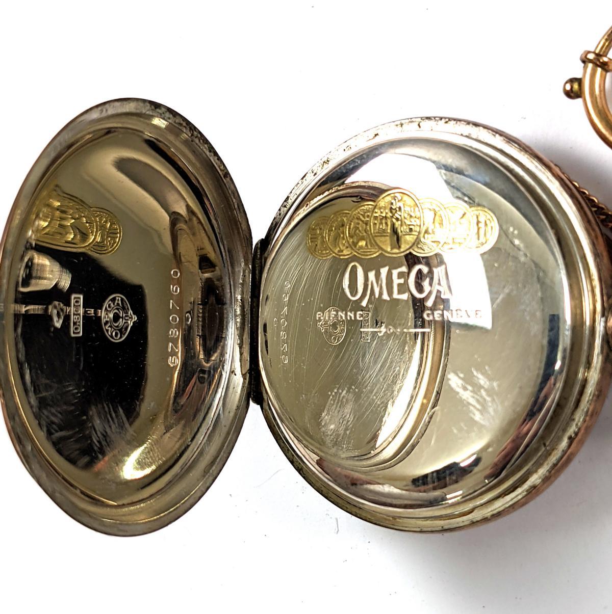 OMEGA Taschenuhr aus 800er Silber-4