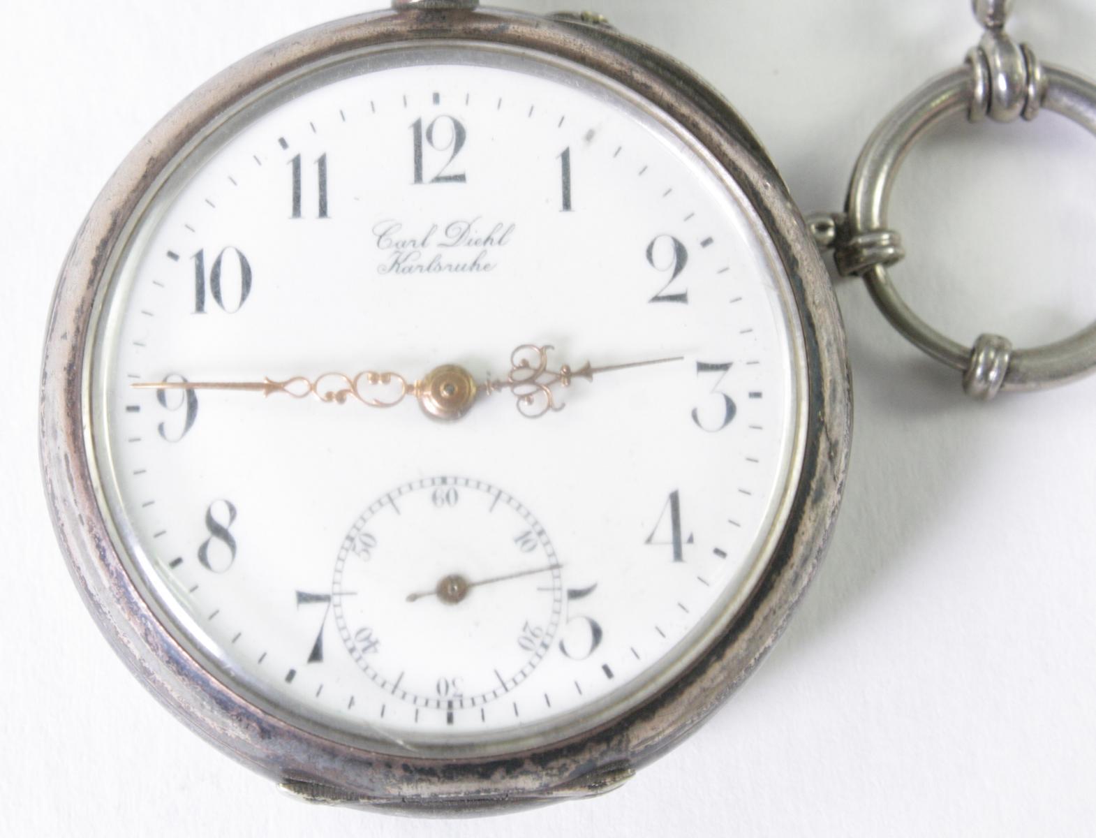 Silberne RHEIN Taschenuhr um 1910-2