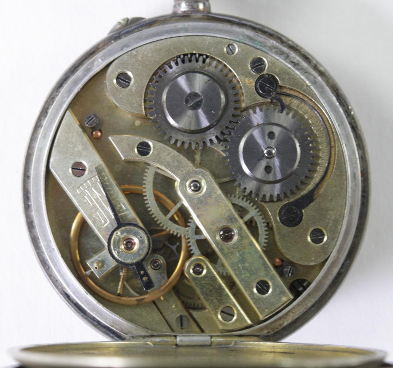 Silberne RHEIN Taschenuhr um 1910-3