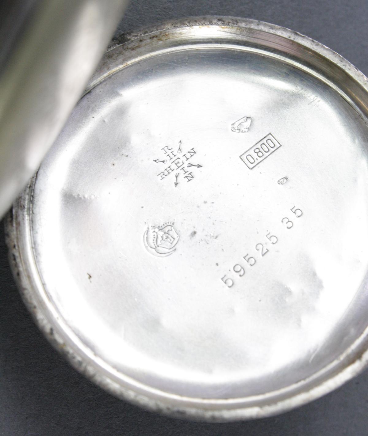 Silberne RHEIN Taschenuhr um 1910-4