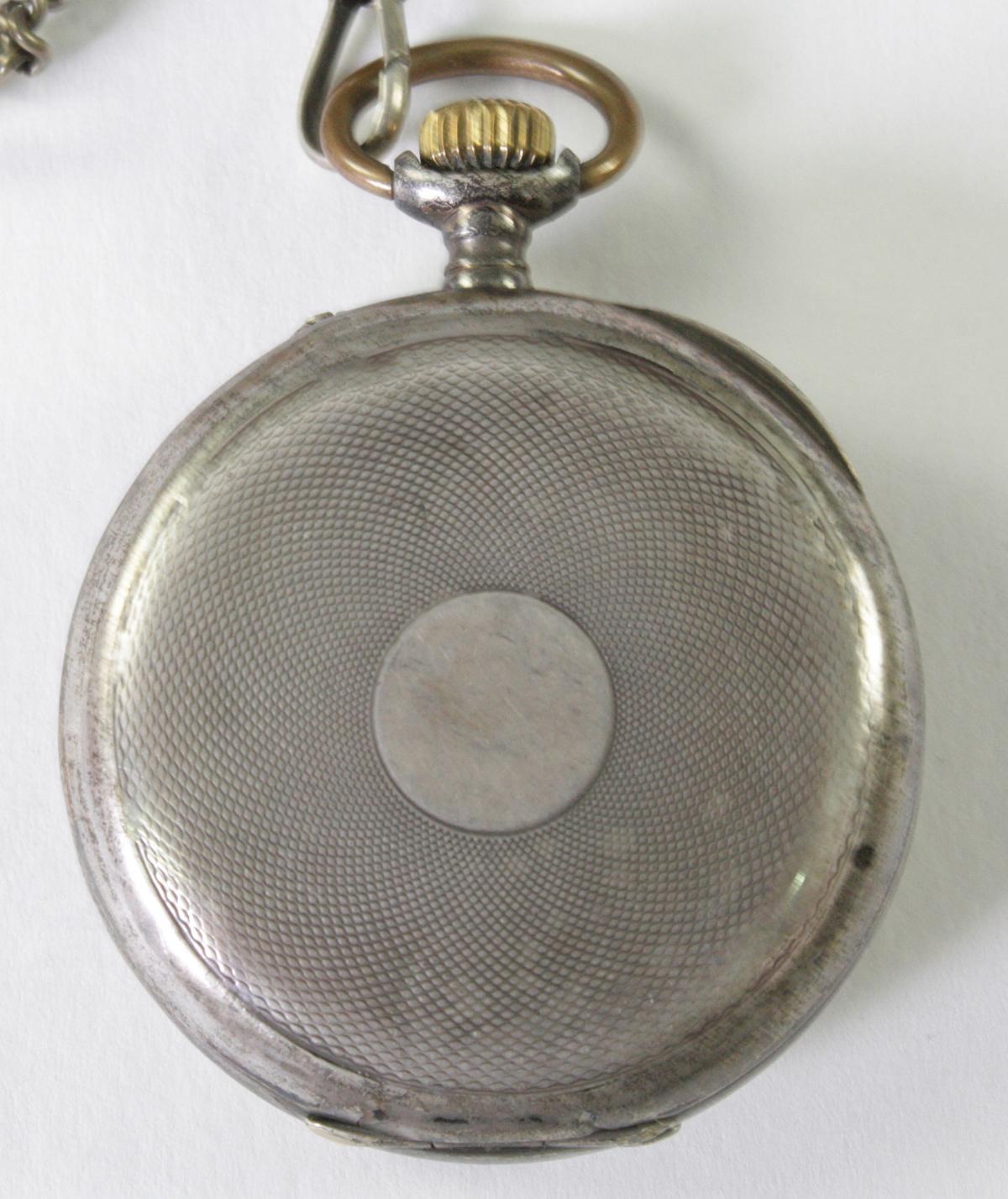 Silberne RHEIN Taschenuhr um 1910-5
