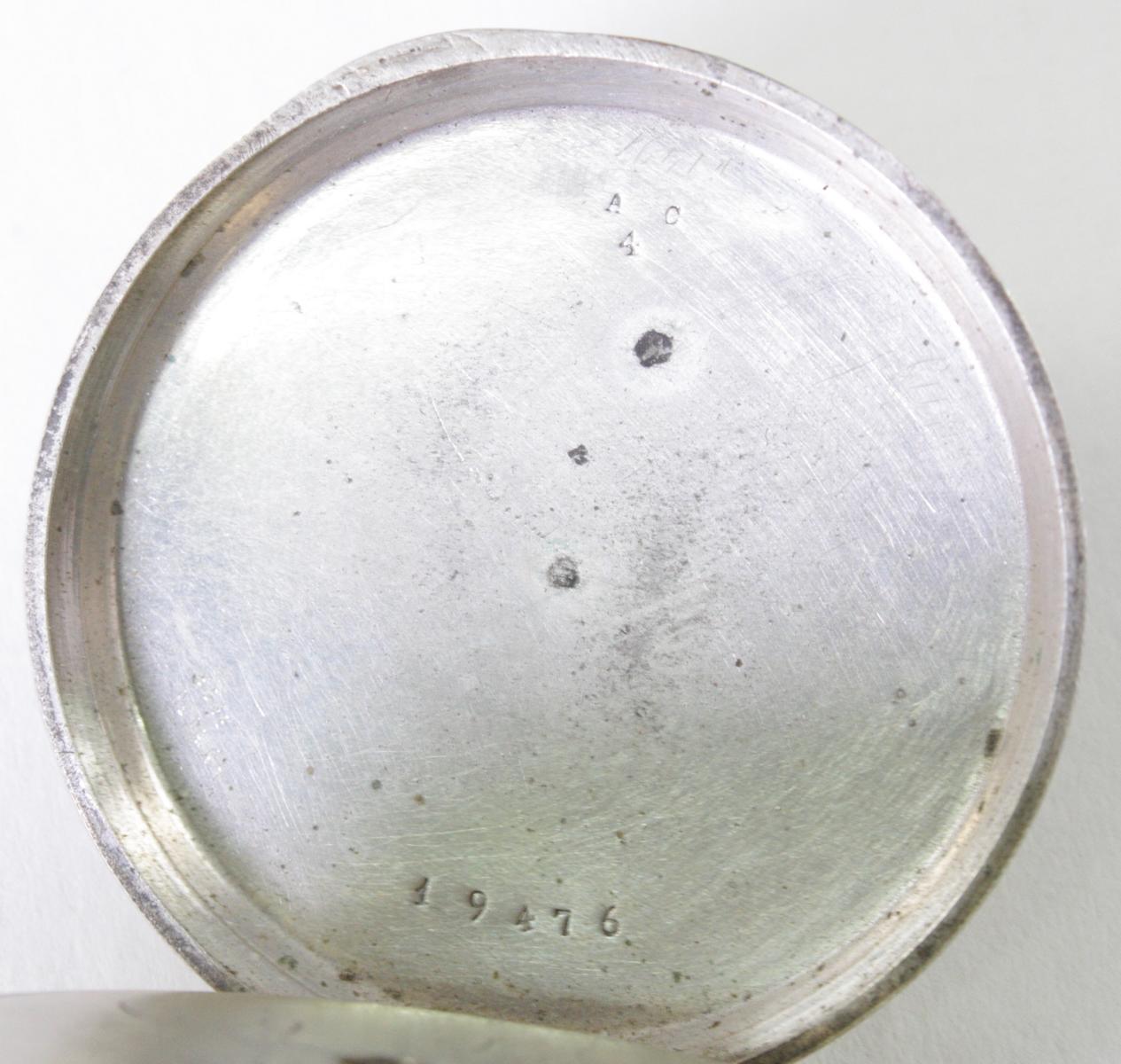 Silberne Biedermeier Taschenuhr mit Anhänger-4