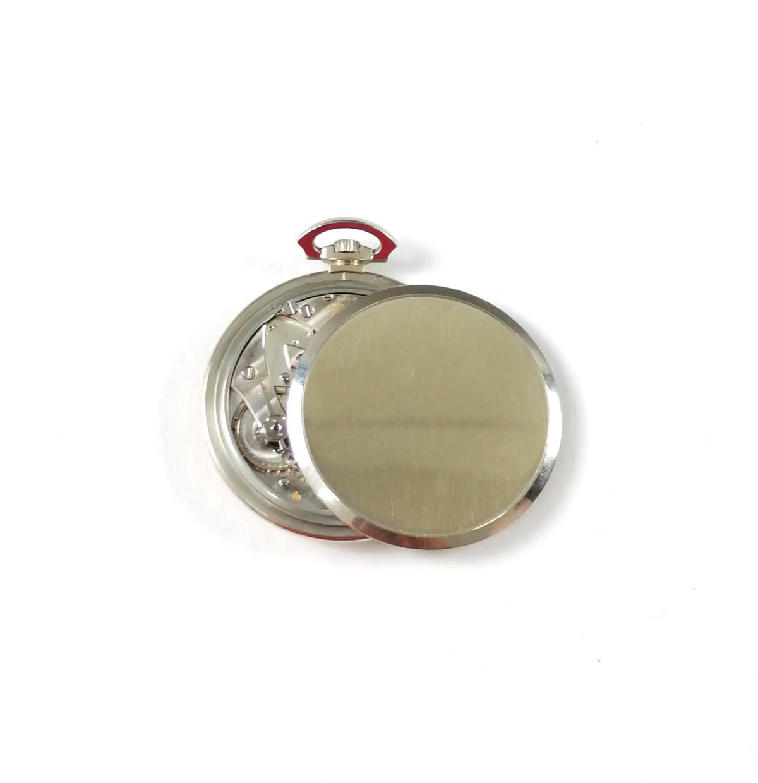 18 Karat Weißgold Taschenuhr GRUEN Geneve-4