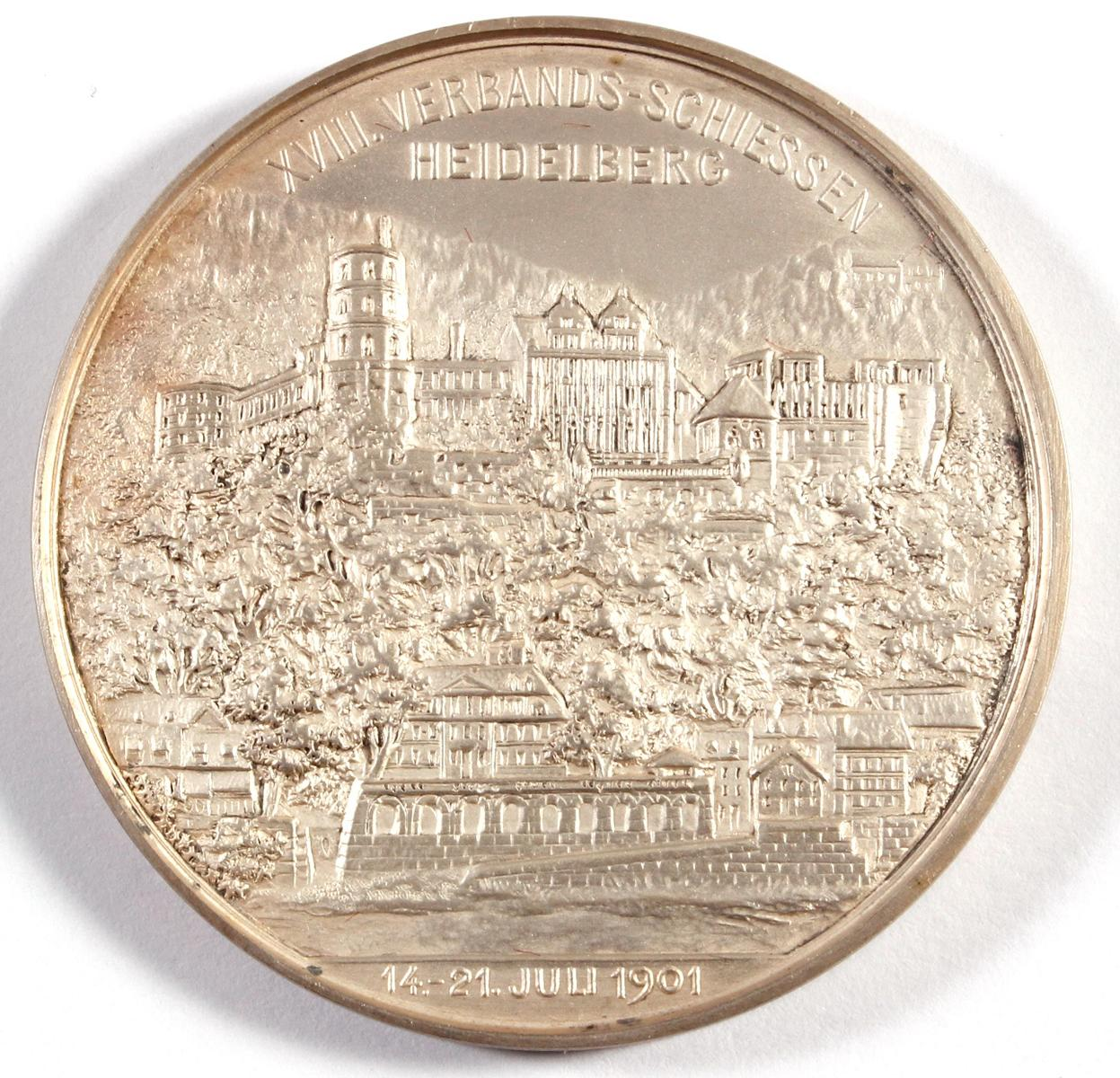Medaille, XVIII. Verbandsschiessen Heidelberg 1901-2