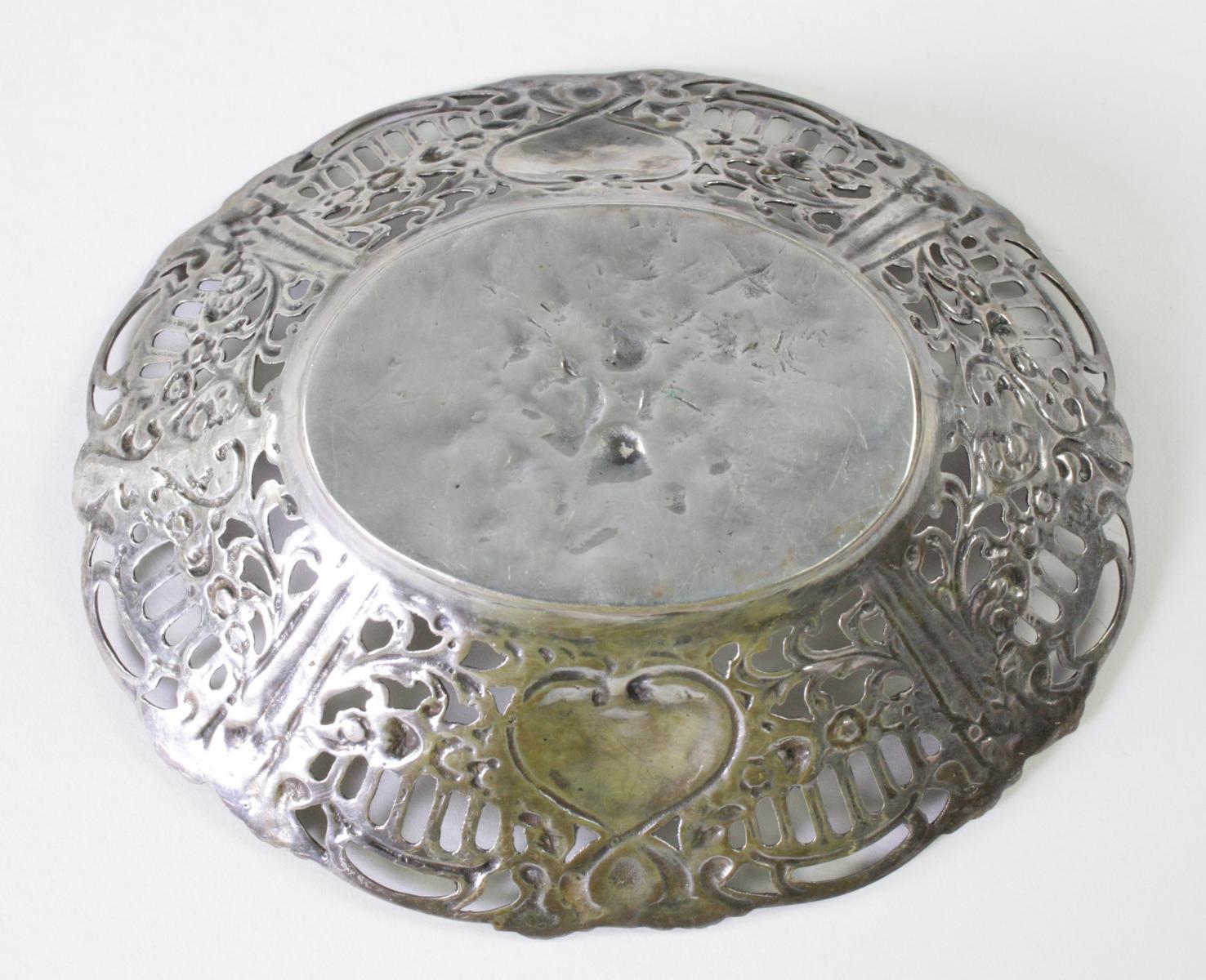 Silberne Anbietschale, 800er Silber-2