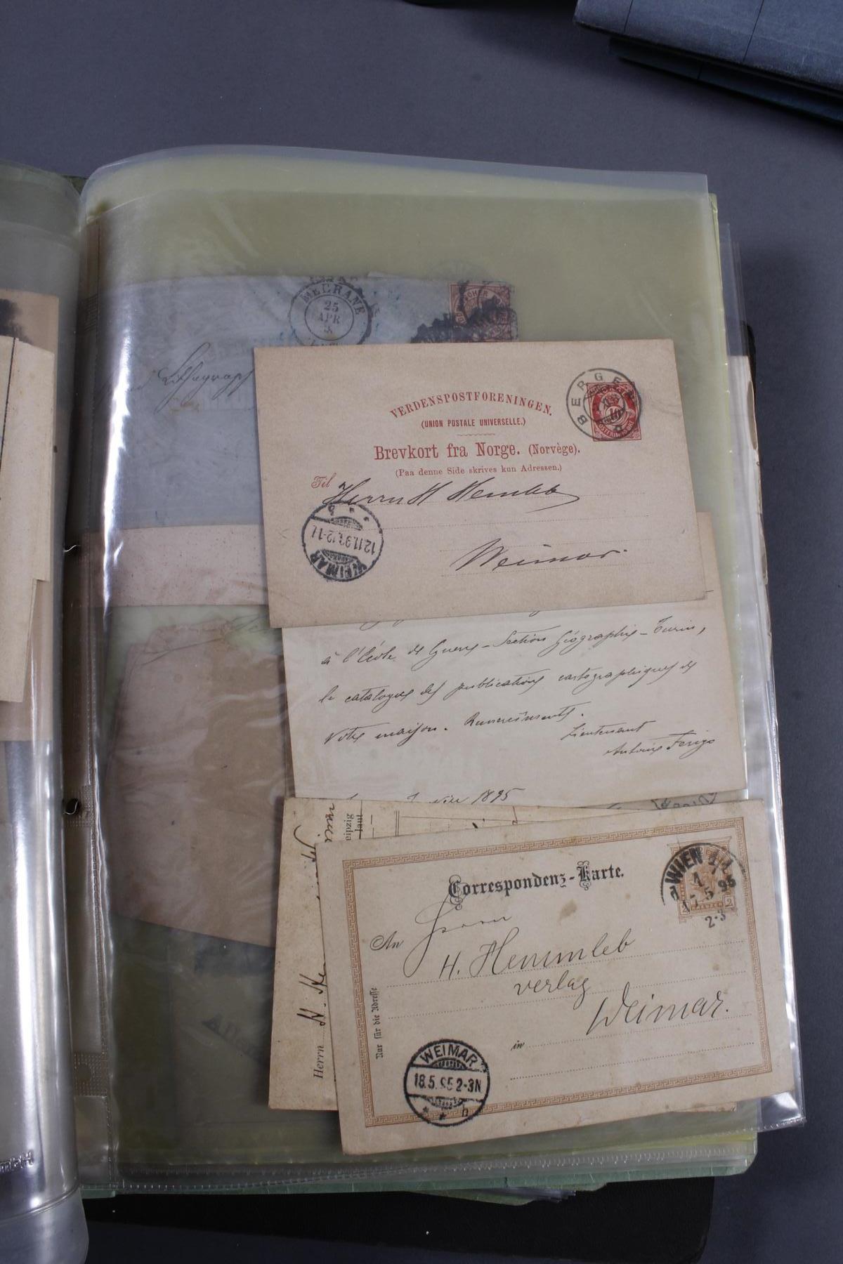 Briefmarkensammlung, Deutsches Reich – Europa – Übersee – Nominale-4