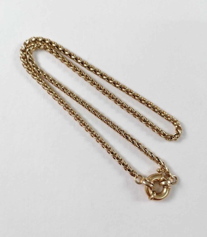 Halskette aus 14 Karat Gelbgold mit Ringverschluß