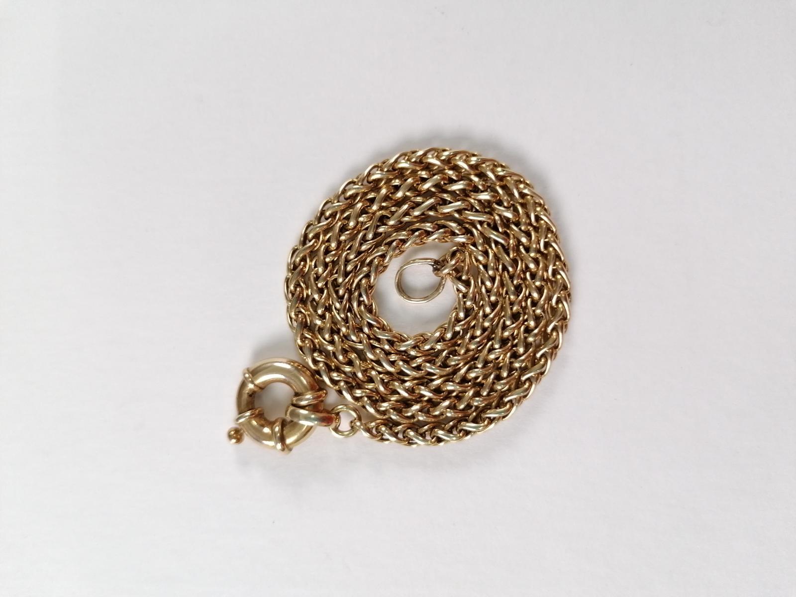 Halskette aus 14 Karat Gelbgold mit Ringverschluß-2