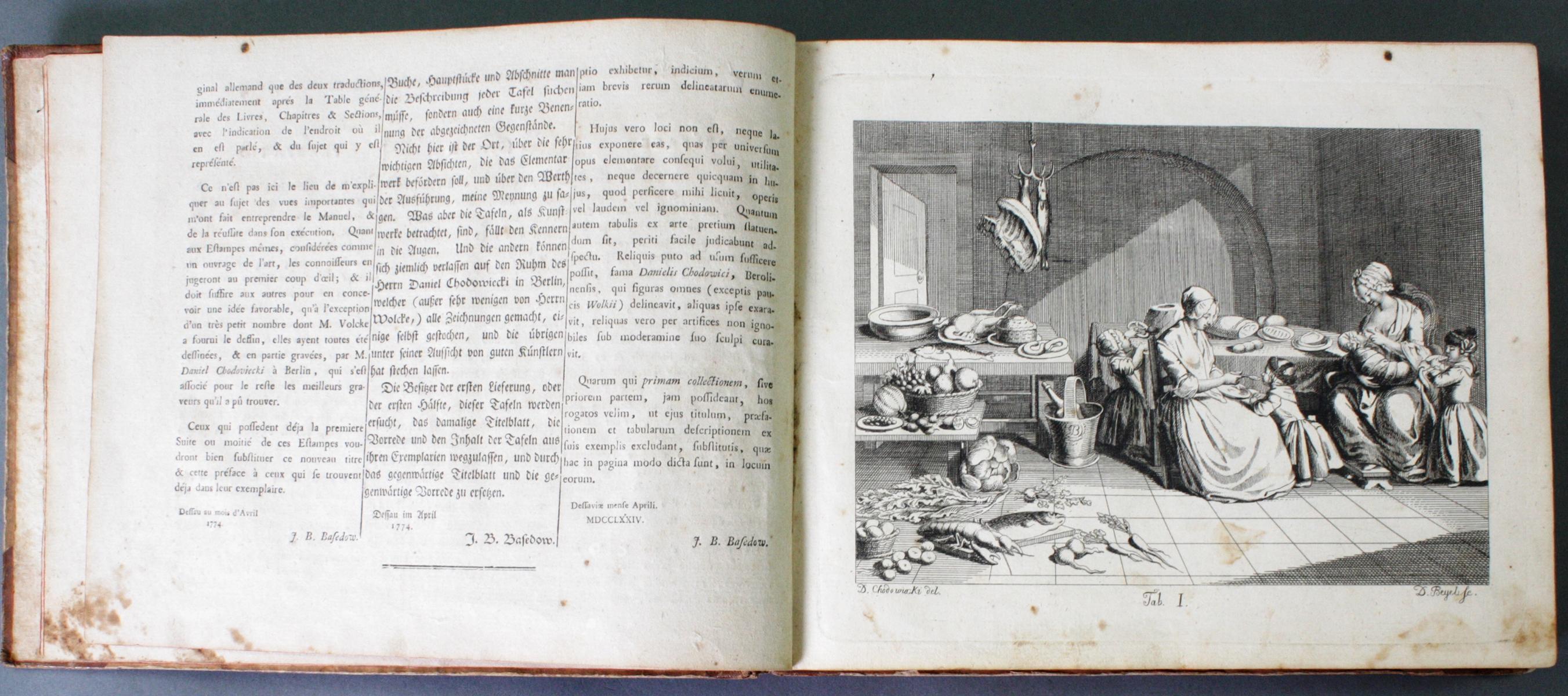 Johann Bernhard Basedow, Kupfersammlung zum Elementarwerk, 1774-3