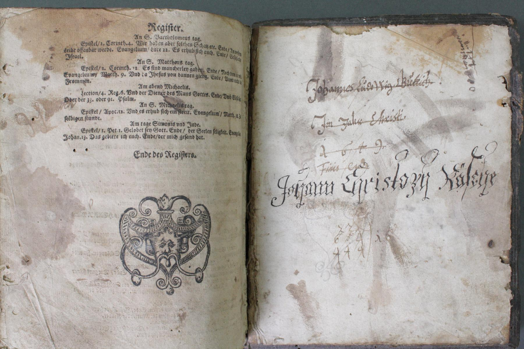 2 Bibeln 17. und 19. Jahrhundert-15