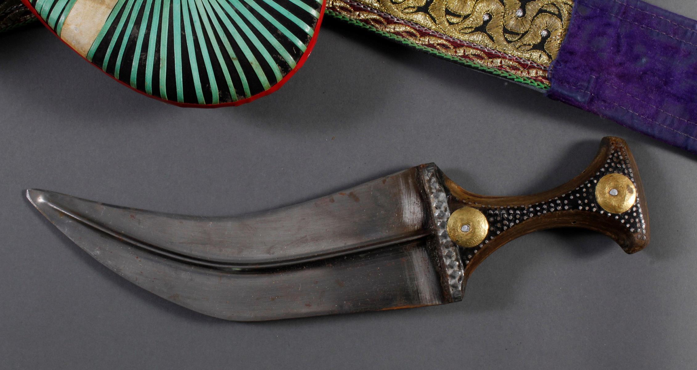 Krumdolch mit Gürtel, Jemen um 1900-2